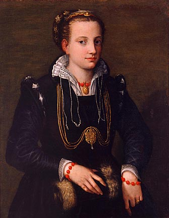 Sofonisba Anguissola, The Artist's Sister Minerva Anguissola, ca. 1564. Layton Art Collection, Gift of the Family of Mrs. Frederick Vogel, Jr. Photo by P. Richard Eells