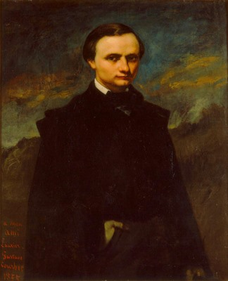 Gustave Courbet, Clément Laurier, 1855. Gift of Friends of Art. Photo by John Nienhuis, Dedra Walls.