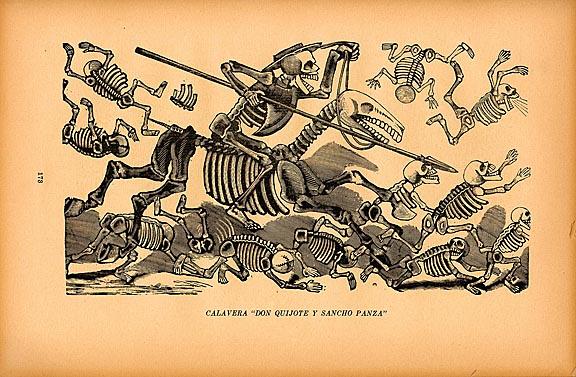 """Calavera """"Don Quijote y Sancho Panza"""" (ca. 1905)"""