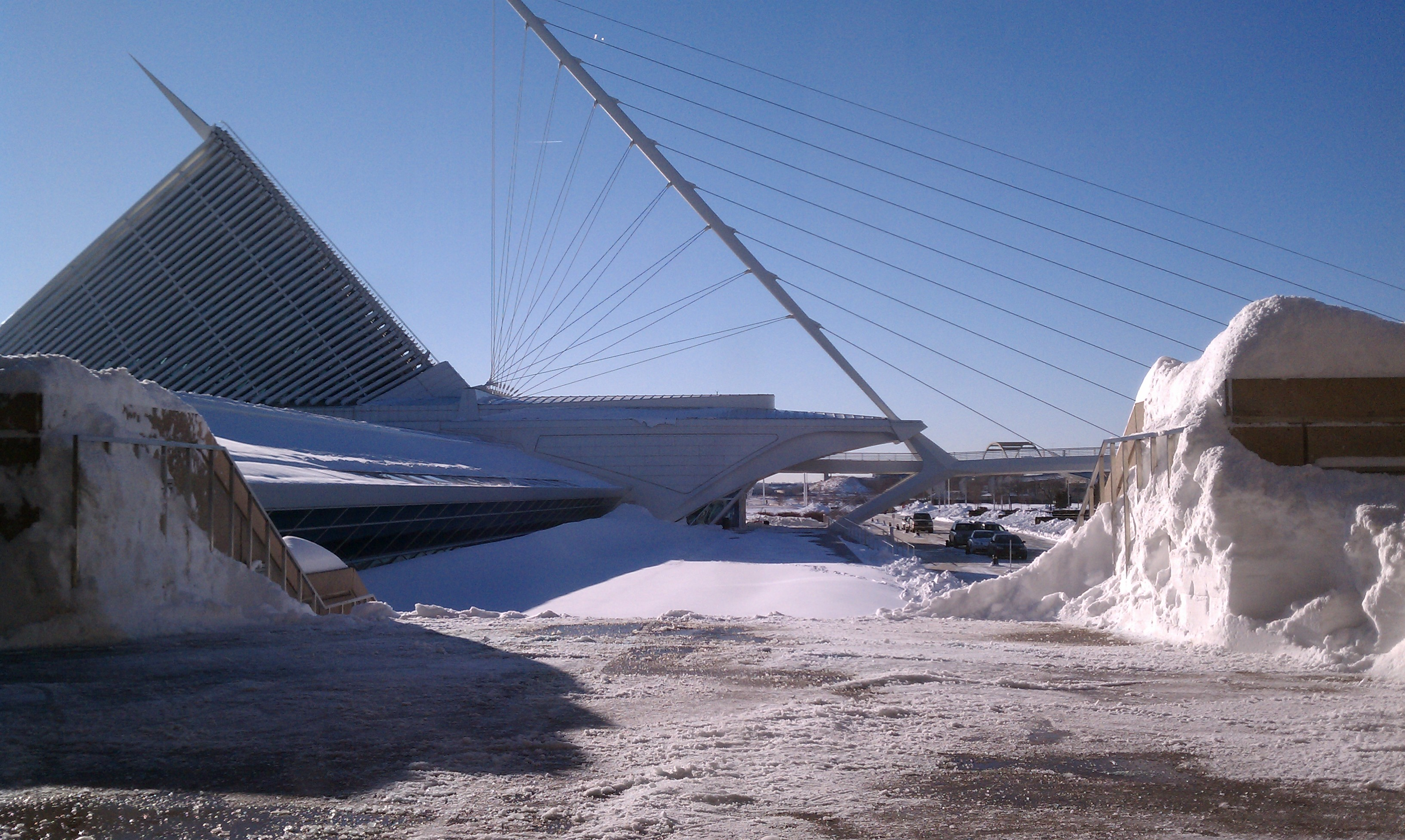 View of the Museum on the morning of Thursday, February 3, 2011