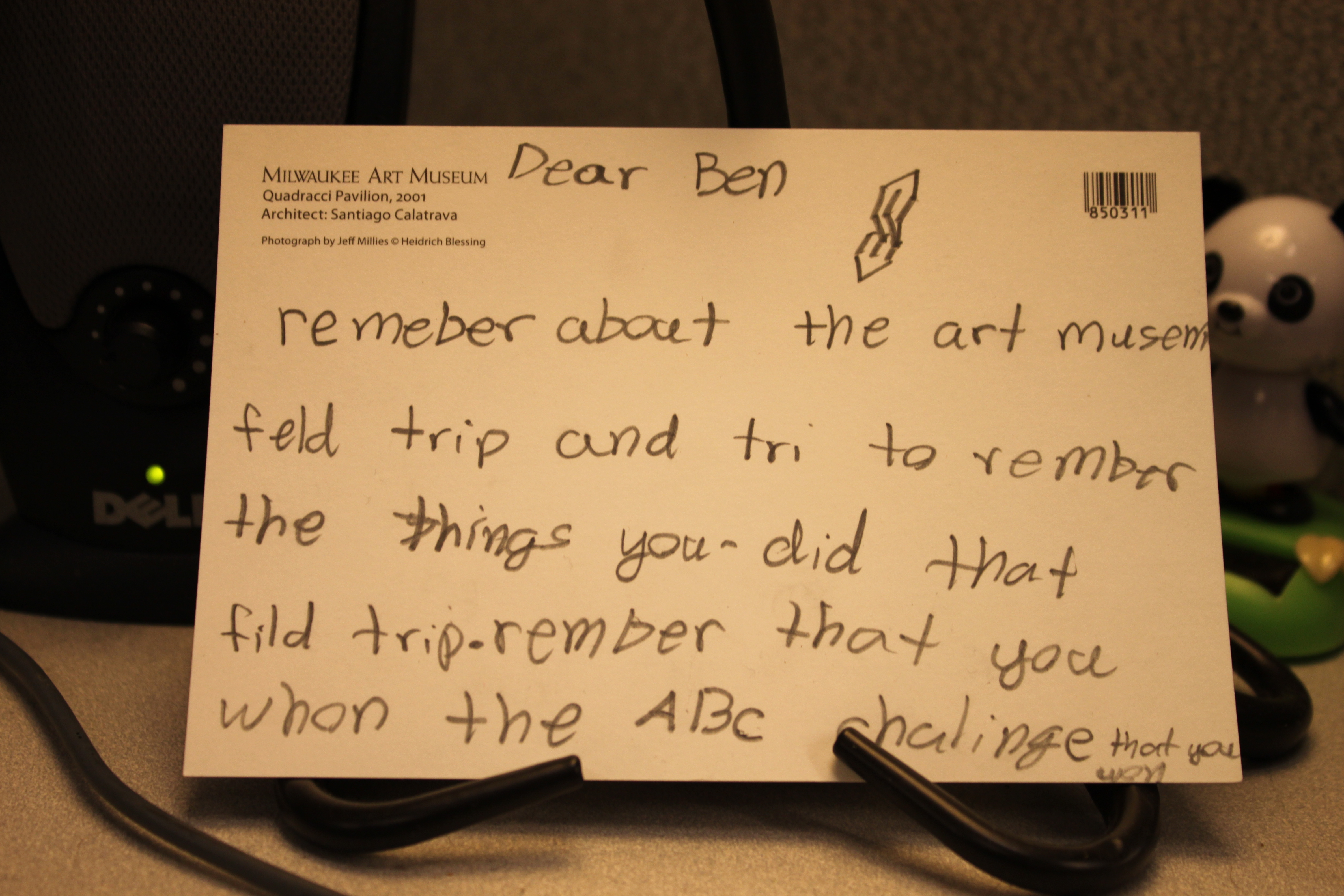 """Postcard from a student to their """"future self"""""""