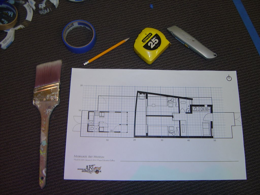 """Tools for the project and the 3/16"""" scale drawing."""