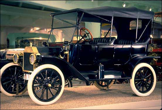 """Henry Ford's """"Model T"""". 15,000,000 were produced from 1908-1927. Image from The Henry Ford. www.hfmgv.org."""