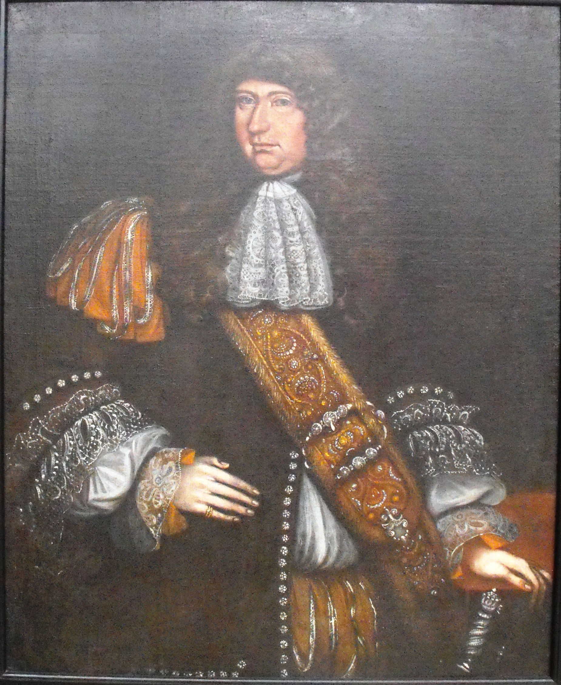 Attributed to Thomas Smith (American, active 1680-1693) Portrait of a Man, probably Eliza Hutchinson, ca. 1675-1690 Oil on canvas; 43 ½ x 35 ½ in. Lent by the Fogg Art Museum, Harvard University, L115.1993