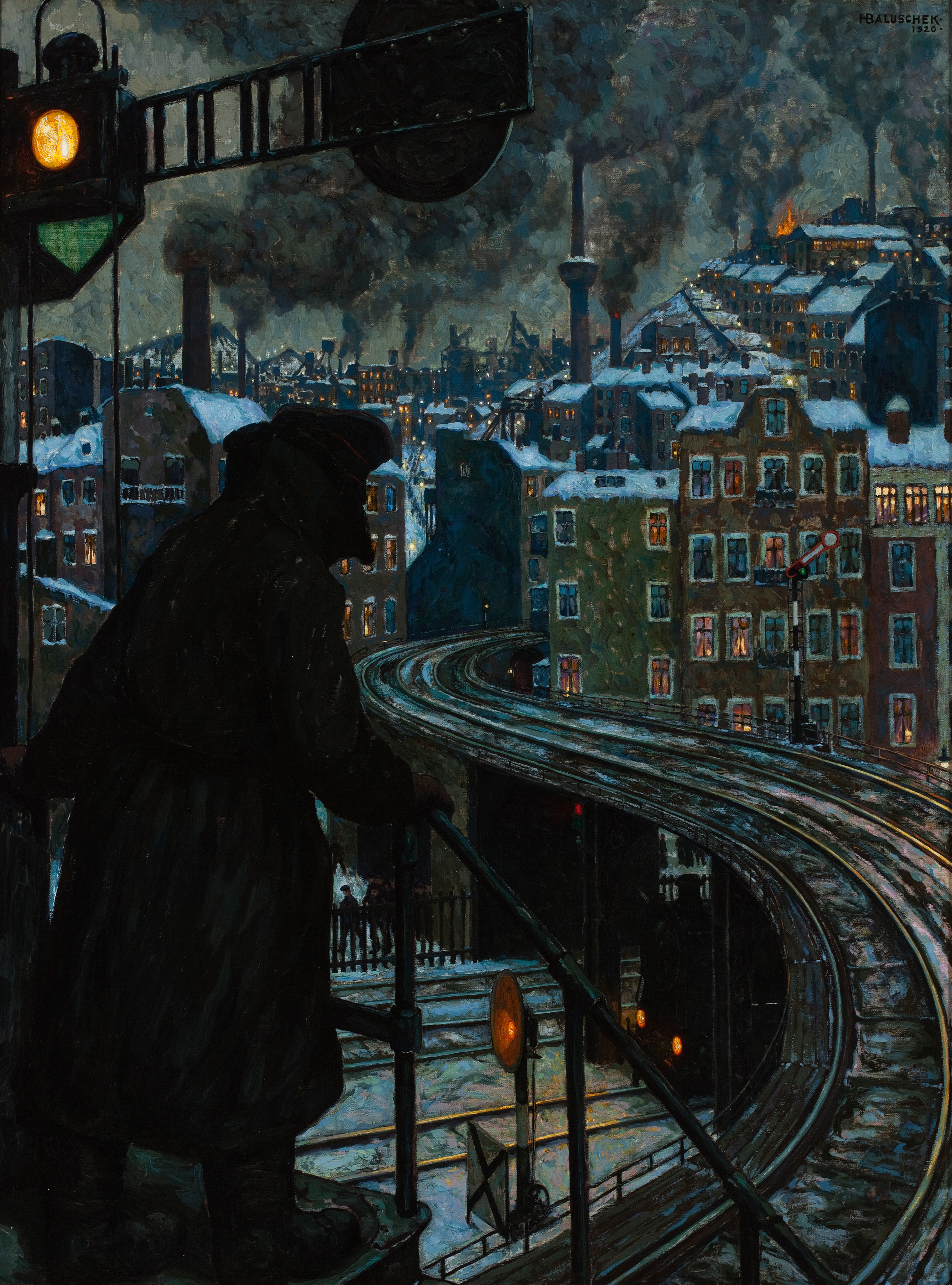 Hans Baluschek (German, 1870–1935), Arbeiterstadt (Working-class City), 1920. Oil on Canvas, 48 7/16 x 36 1/4 in. Milwaukee Art Museum, Purchase with funds from Avis Martin Heller in honor of the Fine Arts Society M2010.49. Photo by John R. Glembin