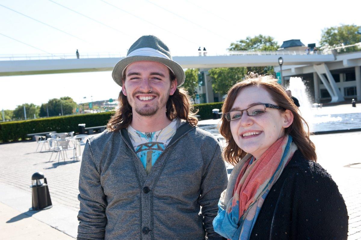 Teaching Artist John Kowalczyk and Program Educator Chelsea Kelly. Photo by Mark Hines