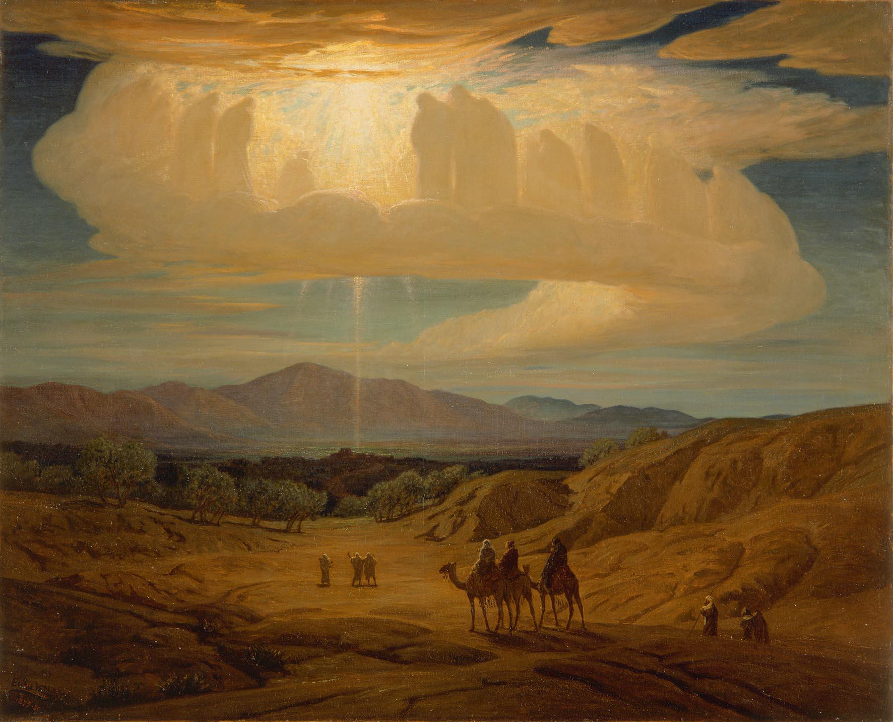 Elihu Vedder (American, 1836–1923) Star of Bethlehem, 1879–80 .  Oil on canvas; 36 3/16 x 44 3/4 in. Milwaukee Art Museum, Gift of Mrs. Montgomery Sears, M1925.2