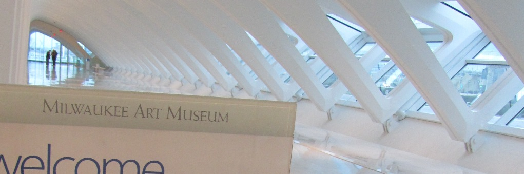 """""""Milwaukee Art Museum"""" in Weiss Antiqua. Photo by the author."""
