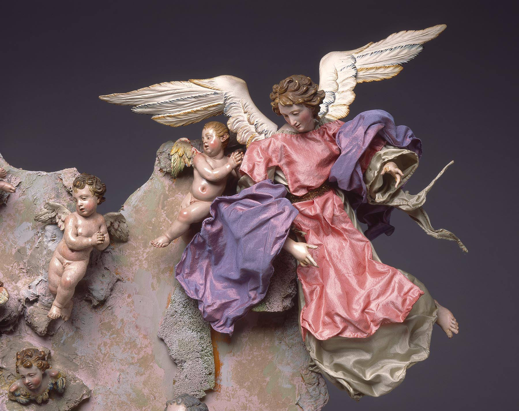 Naples Italy, Nativity Scene (Crèche), mid 1700s. Milwaukee Art Museum, Gift of Loretta Howard Sturgis, M2006.9.1-.20. Photo by John R. Glembin.