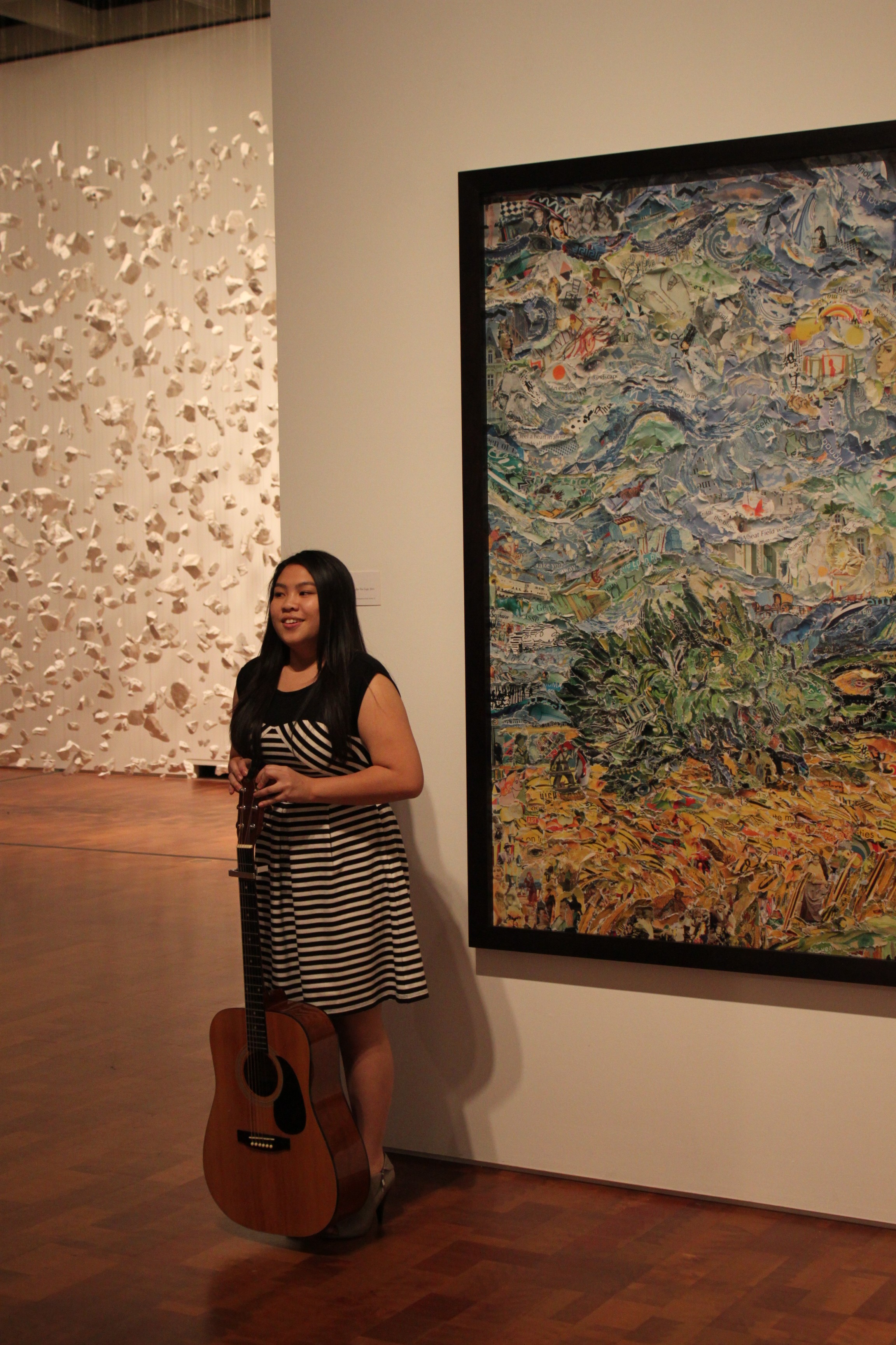 """Mowpunzor wrote and performed a song inspired by Vik Muniz' """"Wheat Field with Cypresses after Van Gogh."""""""