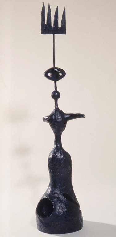 Joán Miró (Spanish, 1893–1983), Project for a Monument (Moon, Sun and One Star), 1967. Bronze, 51 3/16 x 10 x 9 in. Milwaukee Art Musuem, Gift of Mrs. Harry Lynde Bradley M1977.125. Photo credit P. Richard Eells. ©2010 Successió Miró / Artists Rights Society (ARS), New York