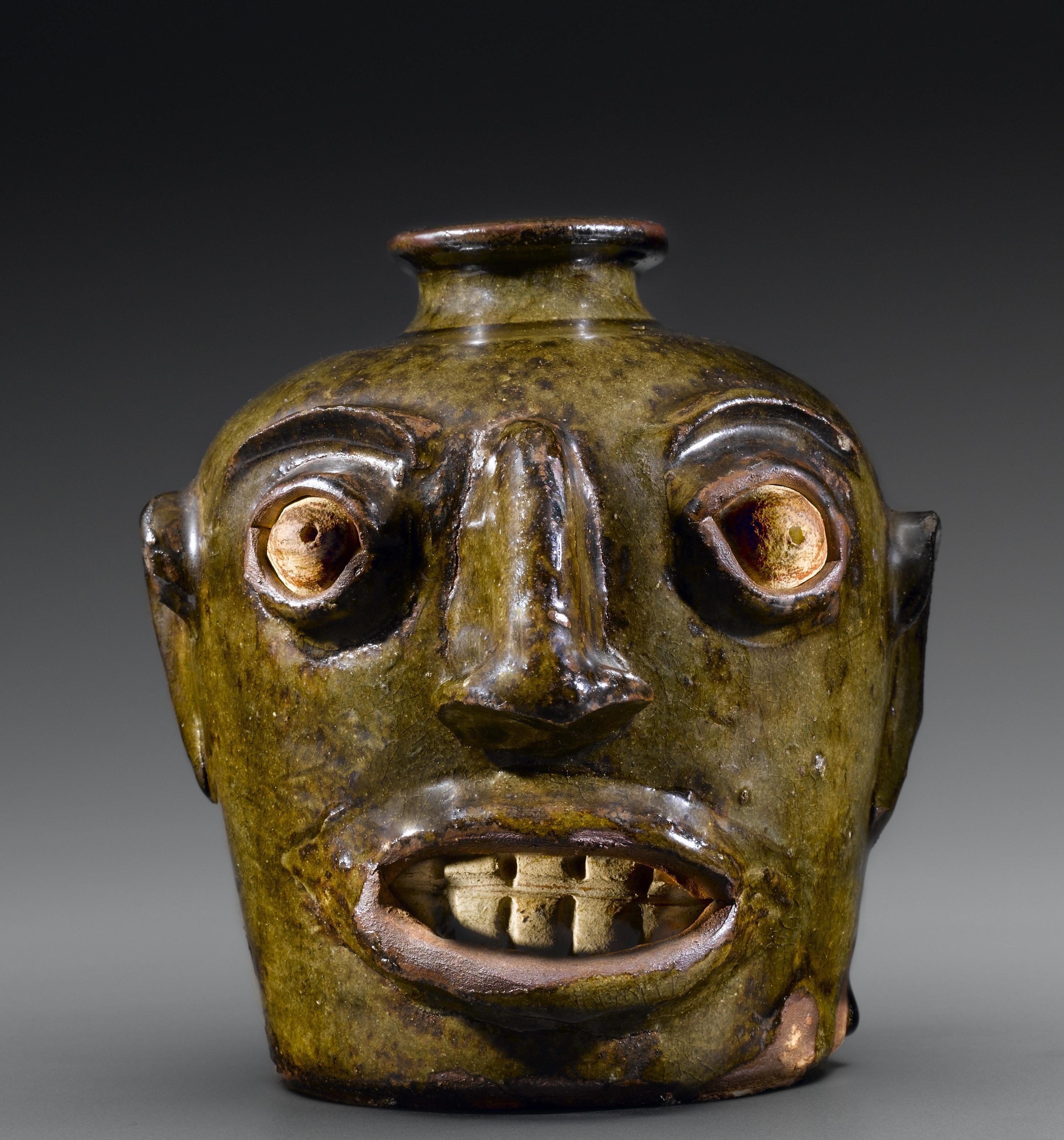 Face Jug, 1860-80. Chipstone Foundation Collection. Photo by Gavin Ashworth.