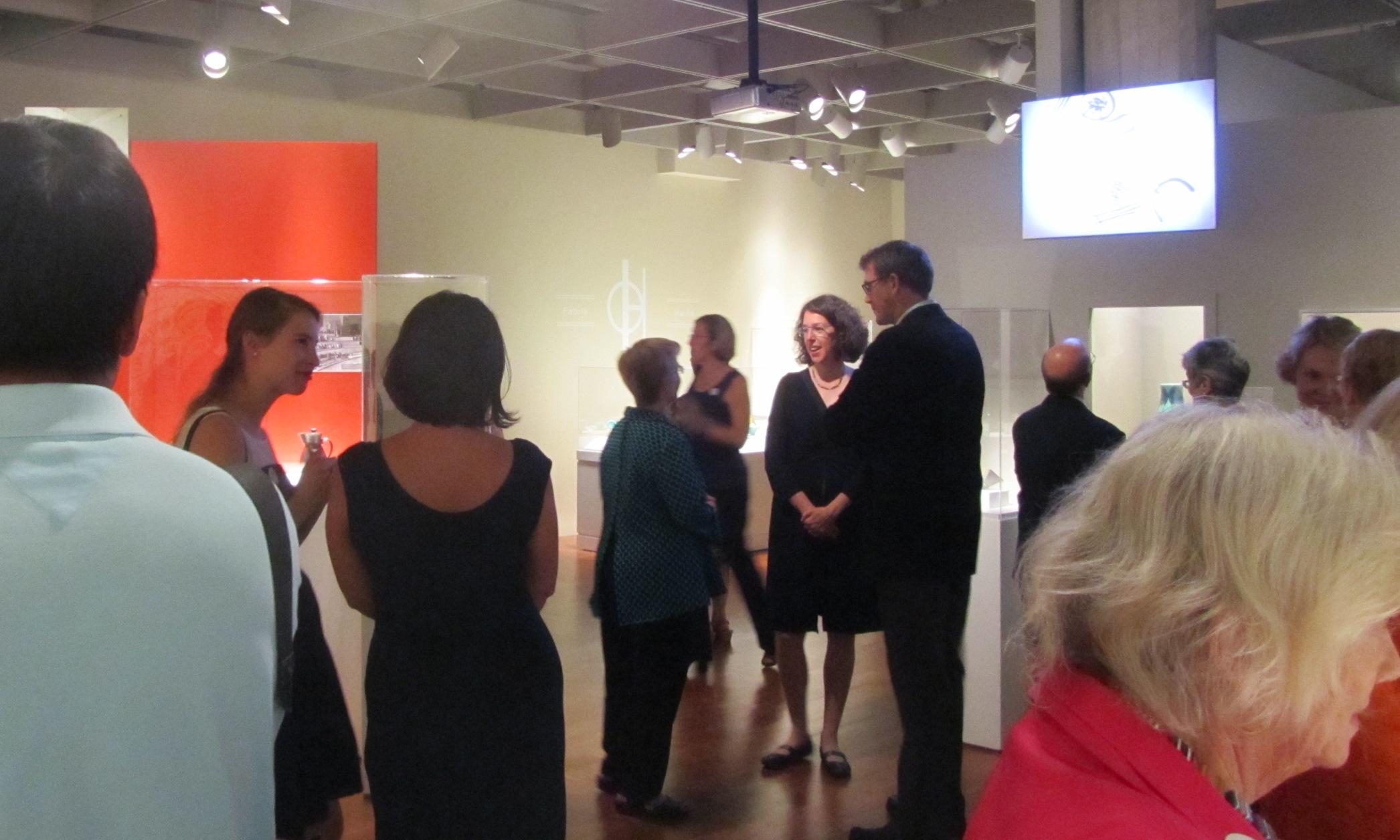 """Opening of """"Grete Marks: When Modern Was Degenerate."""" Photo by Liz Siercks."""