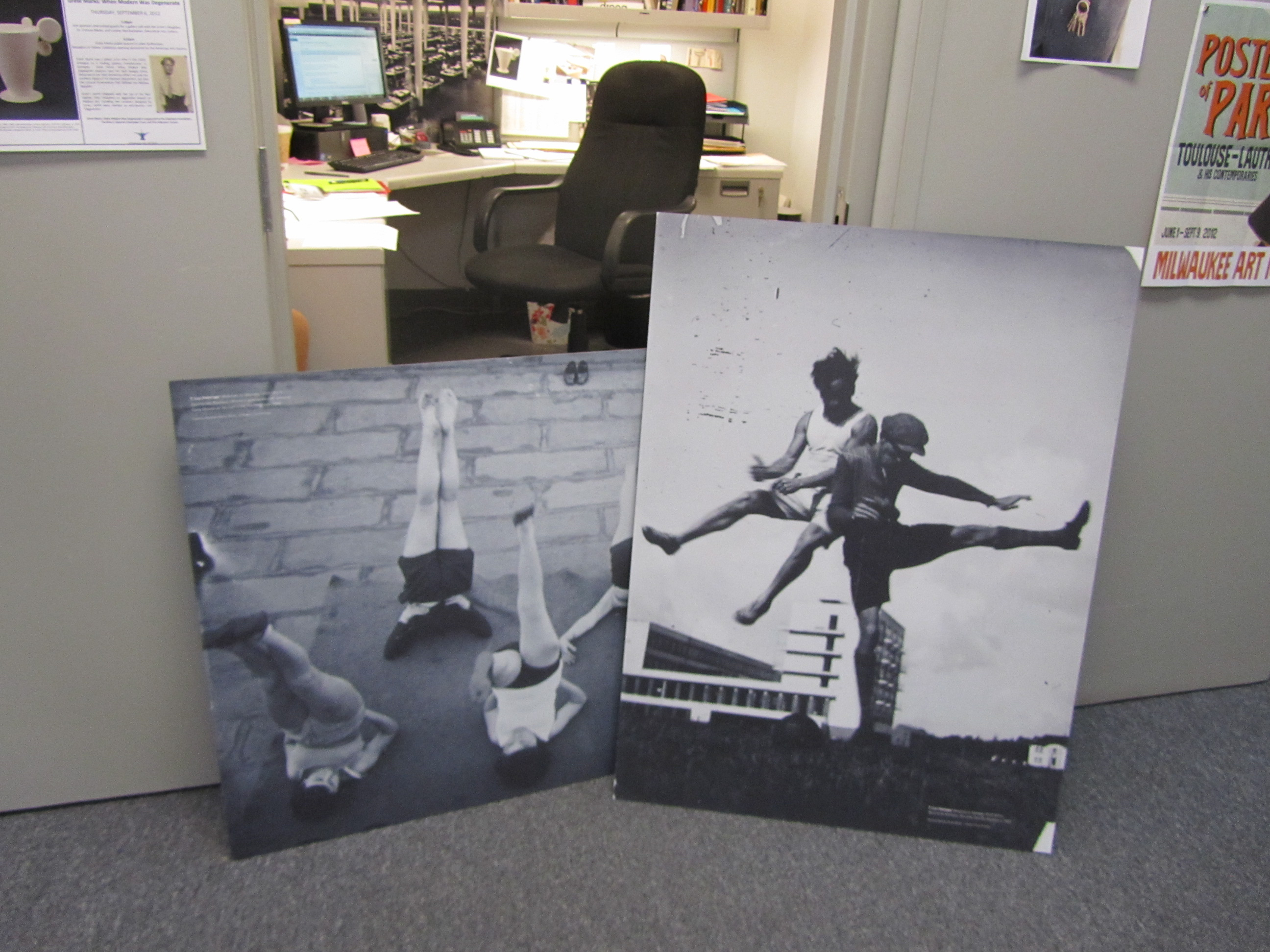 """Photographic reproductions that were not used in """"Grete Marks"""" installation. Photo by the author."""