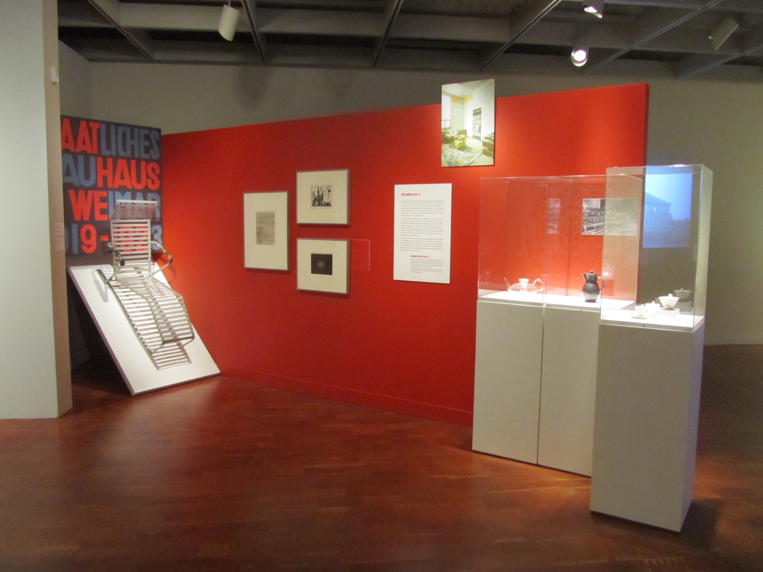 """Installation shot of """"Grete Marks: When Modern Was Degenerate."""" Photo by the author."""