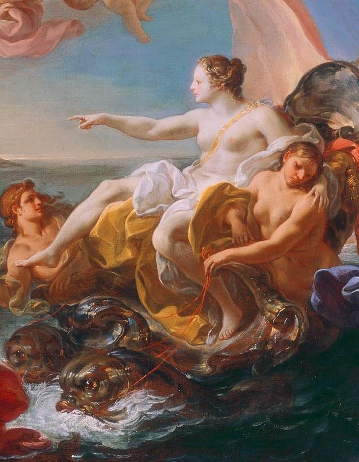 Corrado Giaquinto (Italian, 1703–1766), The Triumph of Galatea, ca. 1752. Oil on canvas; 33 1/2 x 48 1/2 in. Milwaukee Art Museum, Gift of Mr. and Mrs. Myron Laskin M1970.68.2 Photo credit Larry Sanders.