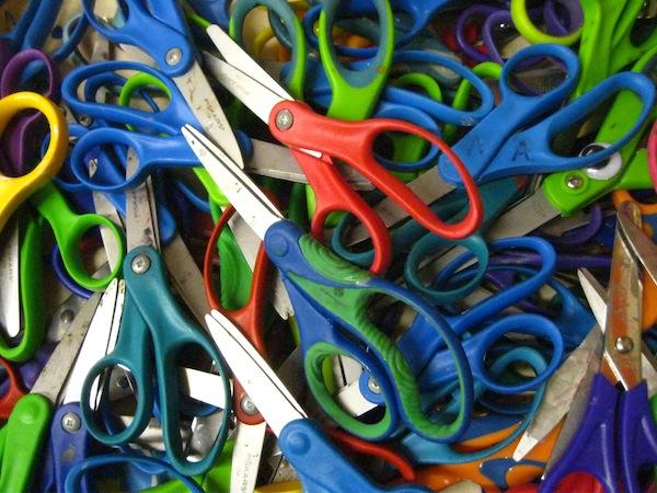 Gathering materials: scissors