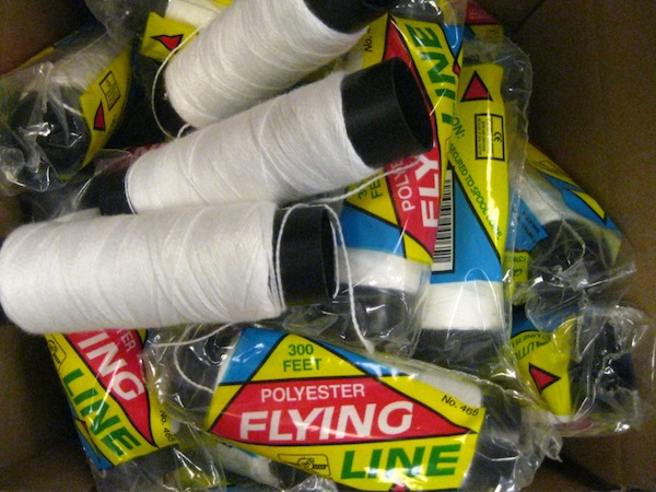 Gathering materials: kite thread