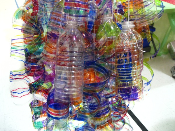 A close-up of the Kohl's Color Wheels Chihuly project.