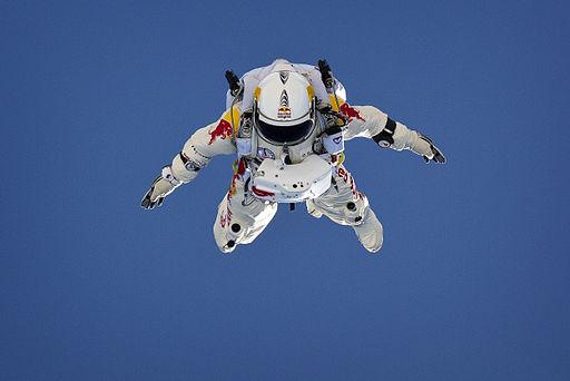 Felix Baumgartner. Photo by Luke Aikins, Red Bull Content Pool, via Wikimedia Commons