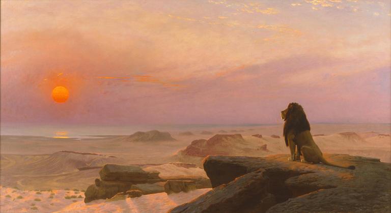 Jean-Léon Gérôme (French, 1824–1904). The Two Majesties (Les Deux Majestés), 1883. Oil on canvas. Layton Art Collection, Gift of Louis Allis. Photo credit Larry Sanders