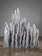 Tara Donovan (American, b. 1969). Bluffs, 2009. Buttons and glue. Milwaukee Art Museum, Purchase, with funds from the Contemporary Art Society. Photo credit G.R. Christmas/ Courtesy The Pace Gallery. © Tara Donovan