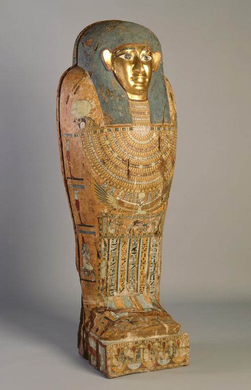 Egyptian, Late Dynastic or Early Greco-Roman Period. Mummy Coffin of Pedusiri, ca. 500–250 BC. Plastered, polychromed, and gilded wood. Milwaukee Art Museum, Purchase. Photo credit Michael Tropea