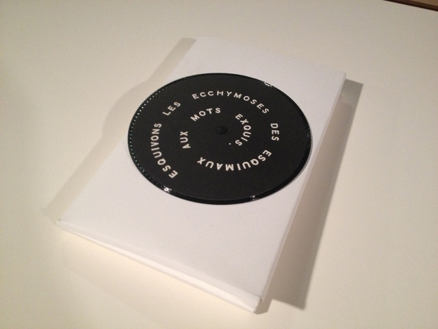 The cover design of S. M. S. Number 2 was designed by Marcel Duchamp; it is a removable record that can actually be played.