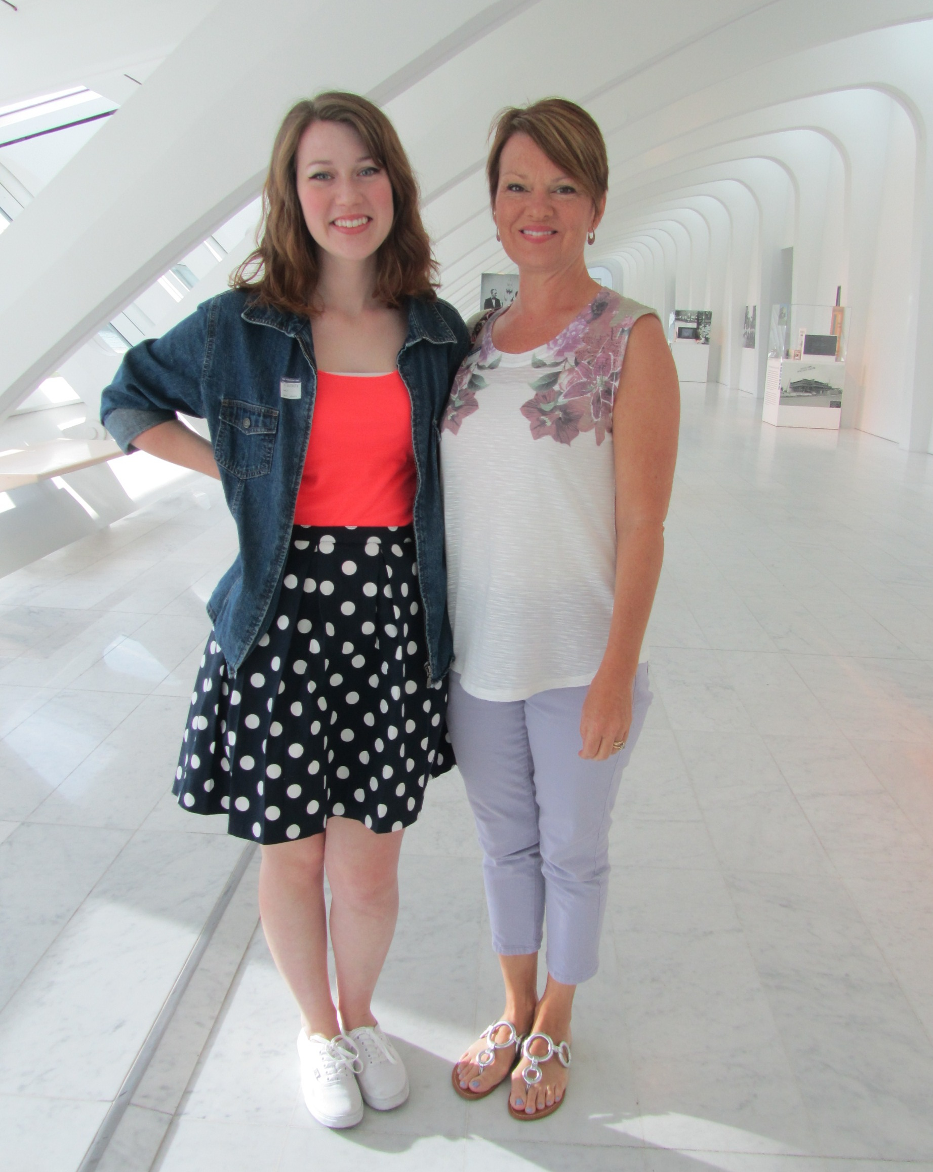 Sherri and Emma Robertson visit the Museum on July 24, 2013. Photo by the author.