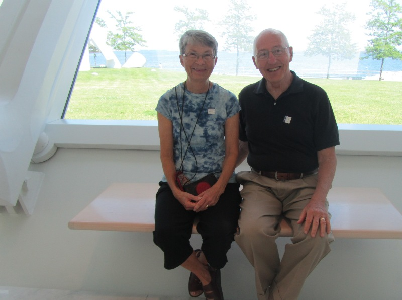 David and Sharon Middleton visit the Museum on July 12, 2013. Photo by the author.