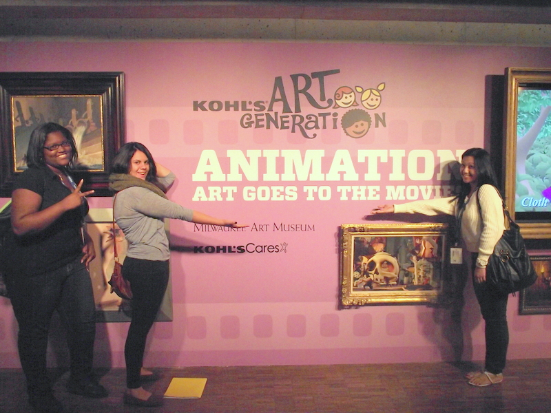 Teen interns outside the Kohl's Art Generation Gallery. Photo by Emerald Summers
