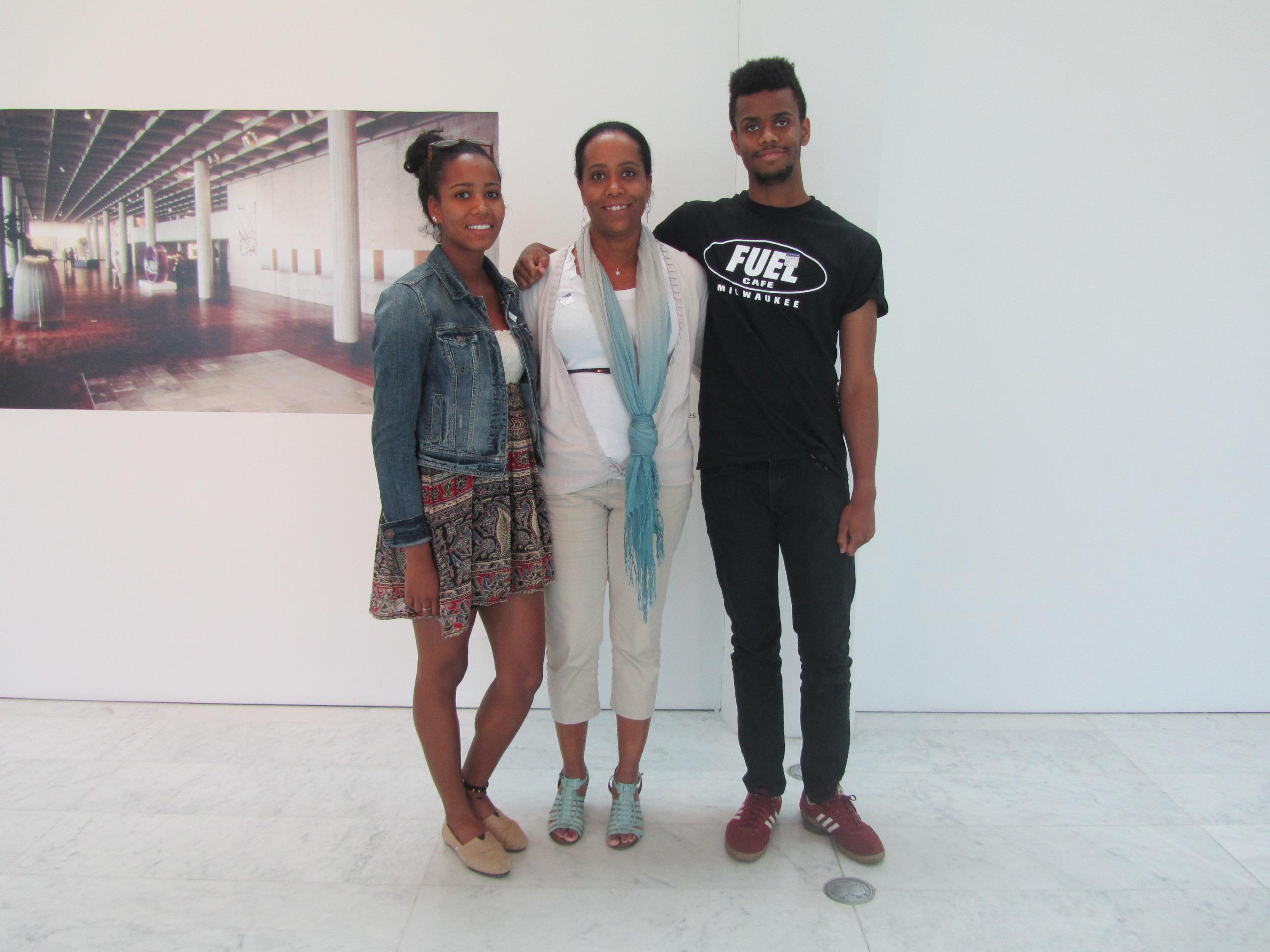 Kai Gardner-Mishlove, Bechane Tendai Cole and Jnana Martin. Photo by the author