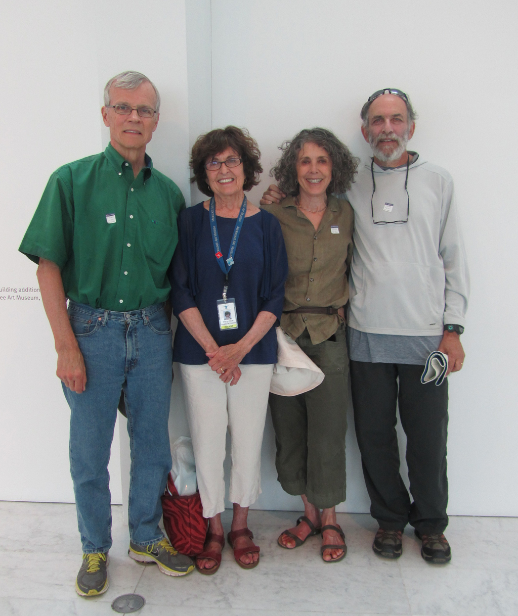 Fran and Mary Wasielewski, Sally Holland, and Jerome Schofferman visit the Museum on Friday August 9, 2013. Photo by the author.