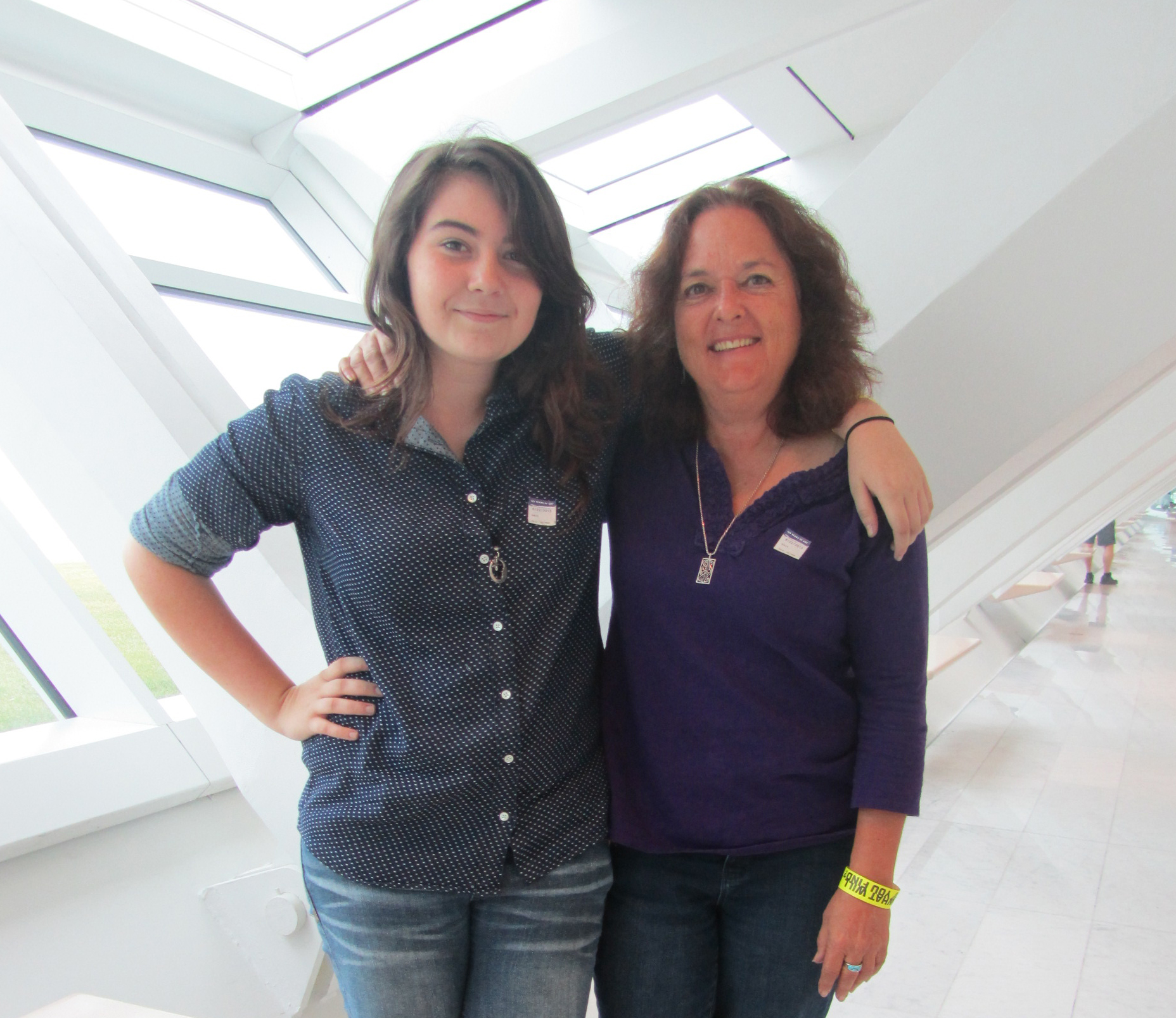 Elysia Powers and Tori Trauscht visit the Museum on August 22, 2013. Photo by the author.