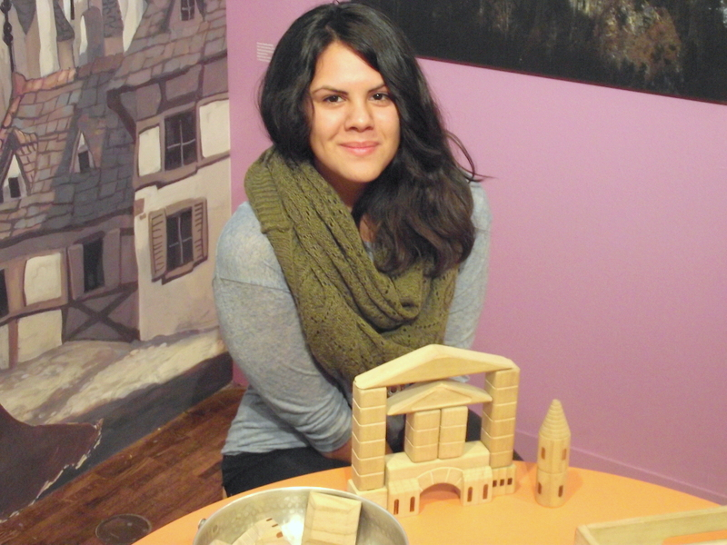 Victoria and her castle in the Kohl's Art Generation Gallery. Photo by Emerald Summers