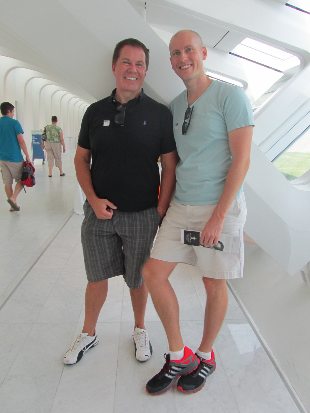 Jeffrey Anderson and Derek Sippel visit the Museum on August 30, 2013. Photo by the author.
