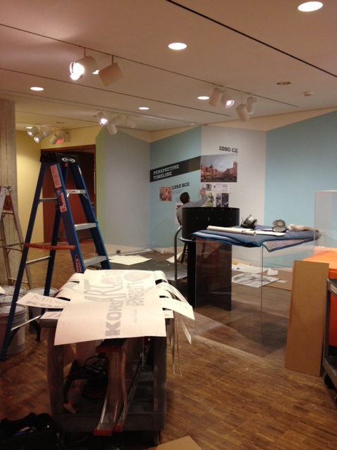 View of the in-progress Illusions gallery. Photo by Brigid Globensky