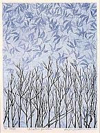 Keiji Shinohara (Japanese, b. 1955), Winter Garden, 1998. Color woodcut. Milwaukee Art Museum, gift of Print Forum, M2005.1. Photo credit John R. Glembin