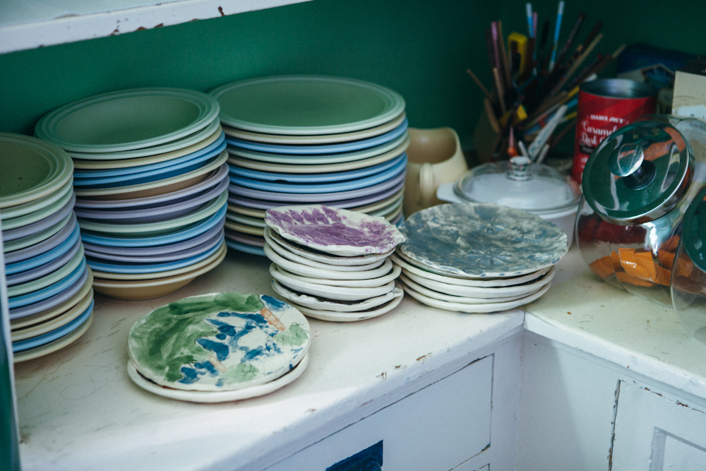Charlie and Hedy's plates. Photo by Megan Yanz Photography