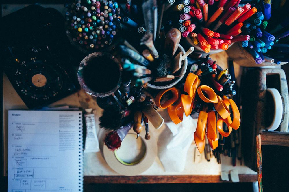 Desk Supplies. Photo by Megan Yanz Photography