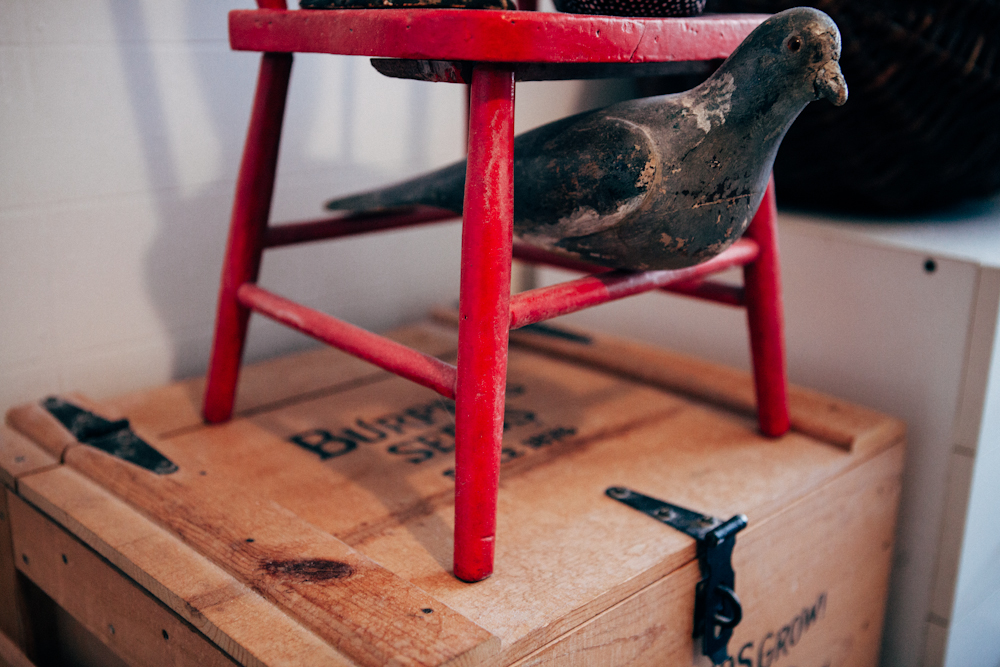 Folk Art Bird and Chair. Photo by Megan Yanz Photography