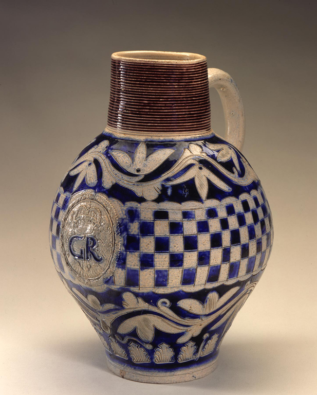 Westerwald, Germany.  Krug, 1725–50. Salt-glazed stoneware. Milwaukee Art Museum, Layton Art Collection, L2000.4. Photo credit Larry Sanders