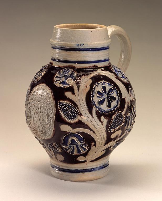Westerwald, Germany. Krug, 1672. Salt-glazed stoneware.  Milwaukee Art Museum, Layton Art Collection, L2000.3. Photo credit Larry Sanders