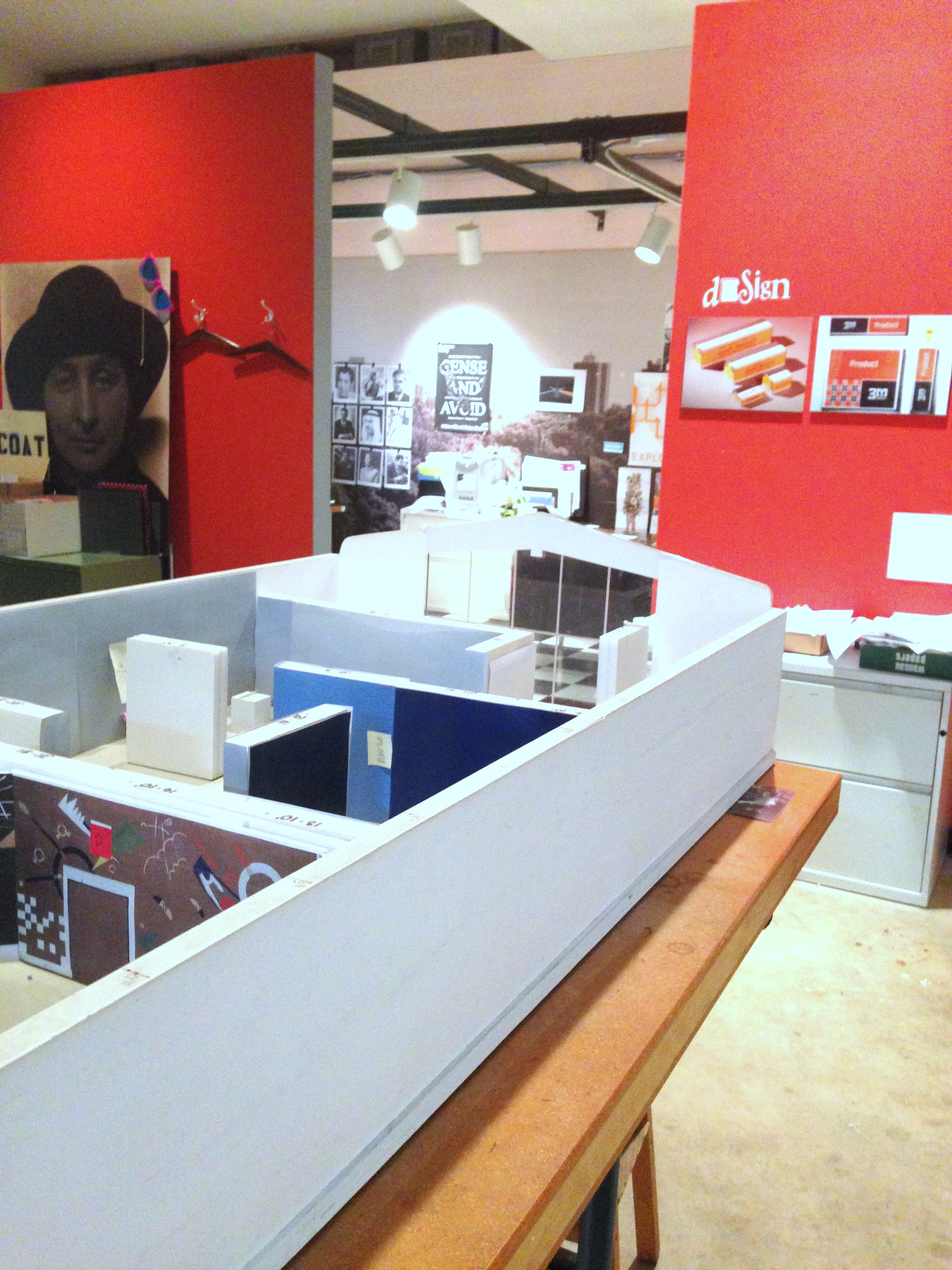View of the exhibition model. Photo by the author