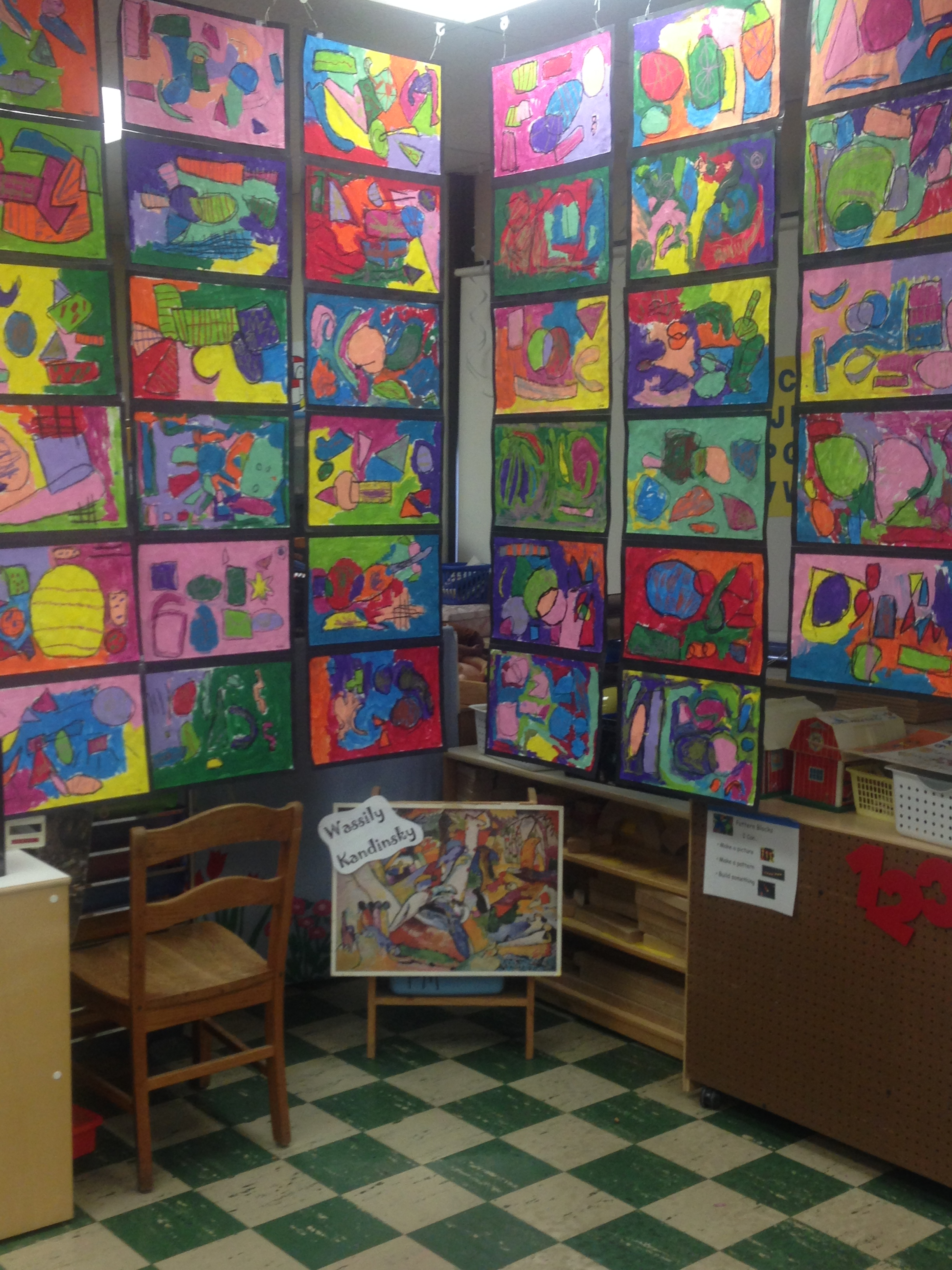 Art inspired by Kandinsky! Photo by Laci Coppins