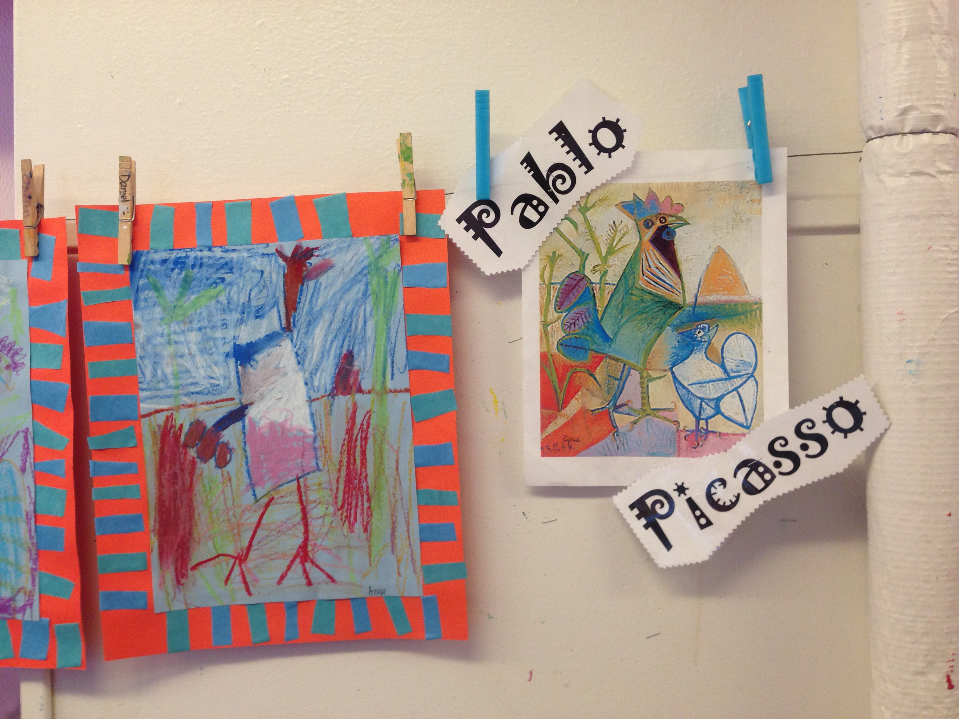 Picasso inspired artwork by students. Photo by Laci Coppins