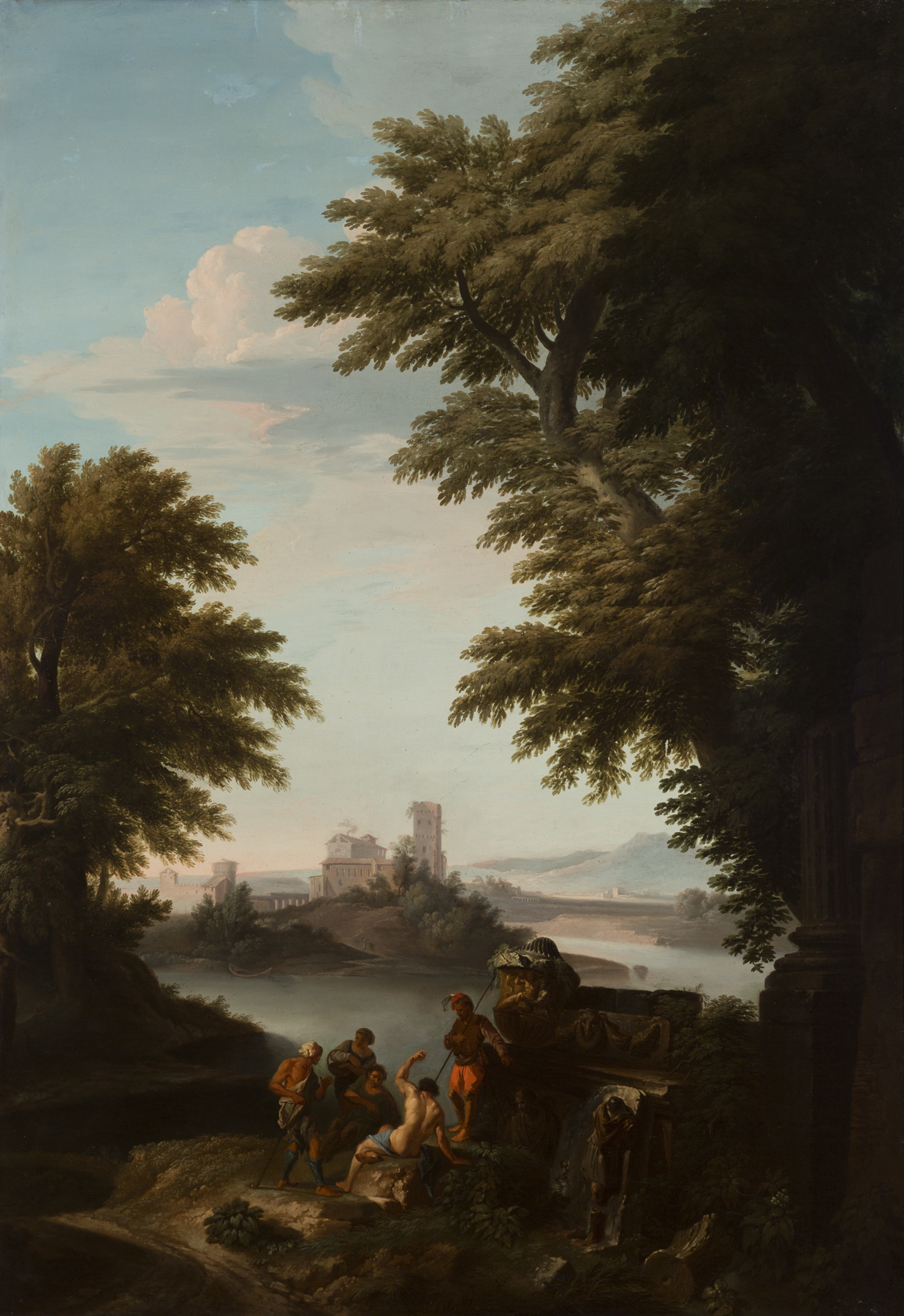 Andrea Locatelli (Italian, 1695–1741), Mountainous Landscape with Shepherds and Animals, ca. 1730. Oil on canvas. Milwaukee Art Museum, Gift of Mr. and Mrs. William D. Kyle, Sr. M1967.125. Photo credit: John R. Glembin.