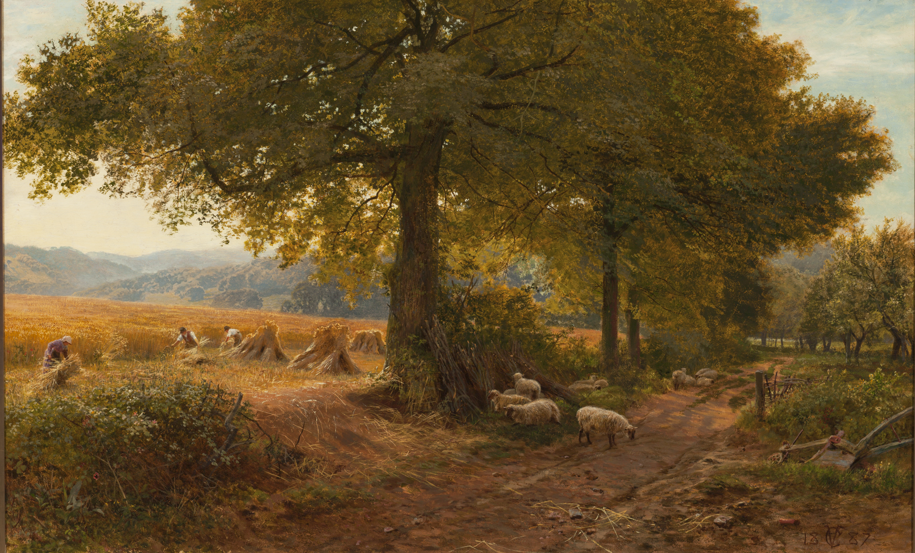 George Vicat Cole (English, 1833–1893), At Arundel, Sussex, 1887. Oil on canvas, 32 1/2 × 52 1/16 in. (82.55 × 132.24 cm). Milwaukee Art Museum, Layton Art Collection, Gift of J.M. Durand. L1888.17 Photo credit: John R. Glembin