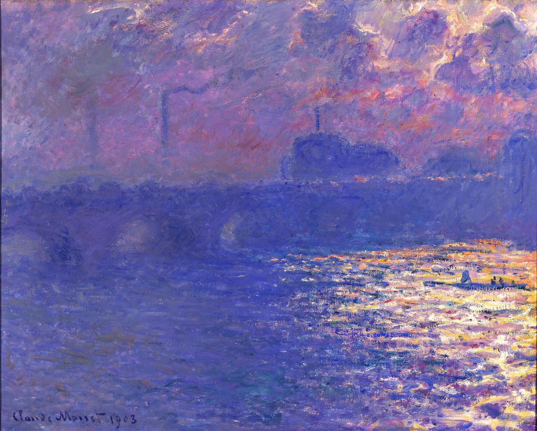 Claude Monet (French, 1840–1926). Waterloo Bridge, Sunlight Effect, ca. 1900 (dated 1903). Oil on canvas. Milwaukee Art Museum, Bequest of Mrs. Albert T. Friedmann M1950.3. Photo credit: John R. Glembin.