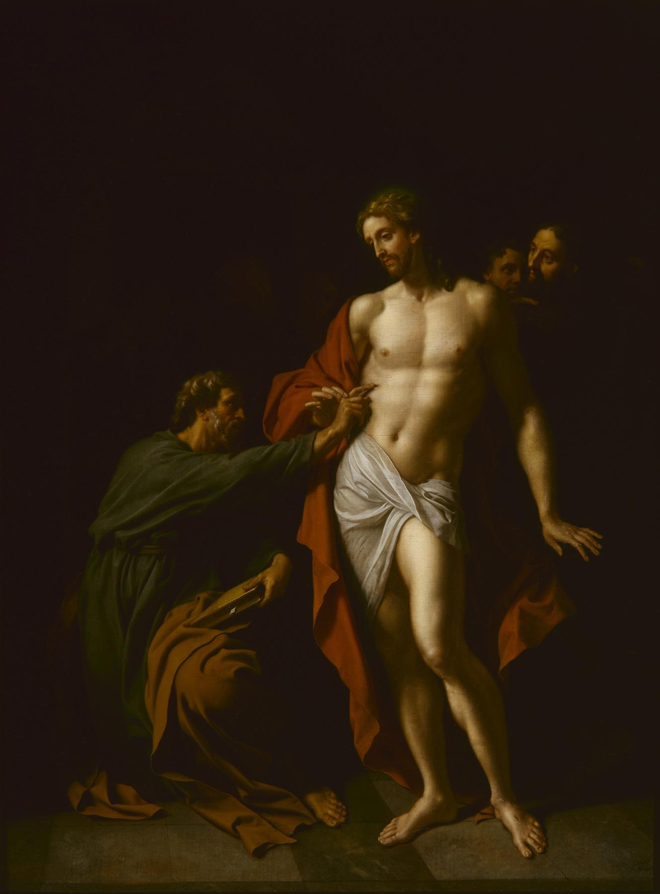 Adriaen van der Werff (Dutch, 1659–1722). Doubting Thomas (The Incredulity of St. Thomas), 1710. Oil on wood panel. 24 15/16 × 18 15/16 in. (63.34 × 48.1 cm). Milwaukee Art Museum, Gift of Mr. and Mrs. R. V. Krikorian M1971.60. Photo credit: P. Richard Eells.